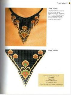 This Pin was discovered by Dil Native Beading Patterns, Beaded Necklace Patterns, Bead Loom Patterns, Jewelry Patterns, Beaded Jewelry, Beading Projects, Beading Tutorials, Beaded Crafts, Seed Bead Necklace