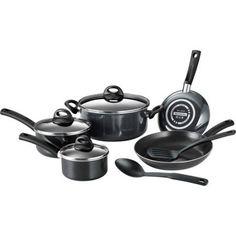 Tramontina 10-Piece Everyday Porcelain Non-Stick Cookware Set, Black
