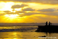 Big waves and a gorgeous sunset in San Diego.