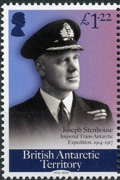 Stamp: Joseph Stenhouse (British Antarctic Territory (BAT)) (Centenary of the End of World War I) Col:GB-AT 2018-05C