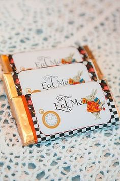 Alice in Wonderland chocolate makes a great party favour.