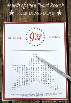 Free Printable: Fourth of July Word Search