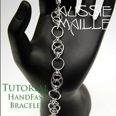 PDF instructions detailing how to make this elegant HandFast Bracelet.  Aimed at an Experienced Beginner Mailler. Experience with mailling is necessary.  This listing is for the PDF only....NO supplies are included.  All steps have full colour images in close detail.  Upon receipt of payment, you will have access to the download. An email will be sent to you with your link.  Tutorials are for personal use only and may not be used to teach or resell in any format. You may of course sell the…