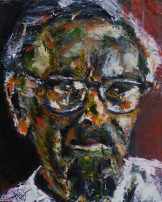 "Portrait of Karl Schmidt-Rottluff, Oil on Canvas 10x8"",  © Copyright 2011 Alan Derwin"