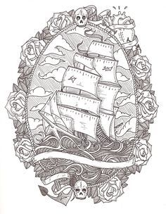 pirate octopus   Pirate Ship And Octopus Tattoo Designs A pirates life for me.