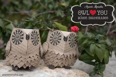 DIY Paper Owls ( Valentine's Day Edition)