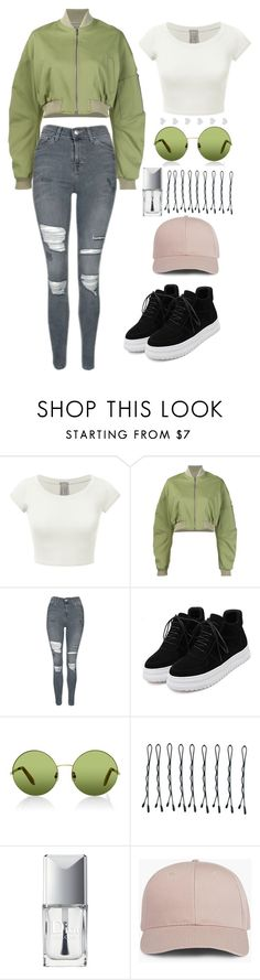 """""""Verdure"""" by ines-lynch ❤ liked on Polyvore featuring Rosie Assoulin, Topshop, WithChic, Victoria, Victoria Beckham, BOBBY and Christian Dior"""