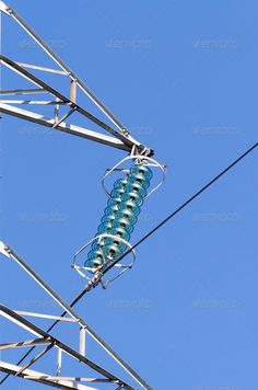 Detail of electric insulators