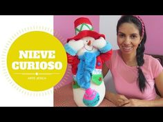 TEMAS DE FAMILIA MUÑECO DE NIEVE EN TELA 1era parte - YouTube