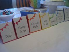 Food Signs for Rainbow Party