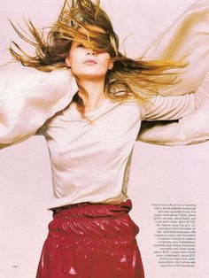 Go Crazy featuring Kate Moss in Helmut Langphotography david sims hair guido palau make-up linda cantello