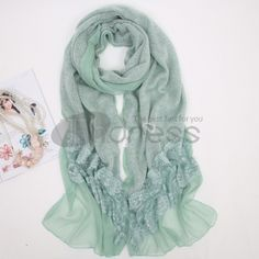 Ladies new long wool scarf in autumn and winter