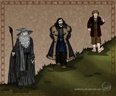 The Hobbit fanart.  Finally, Bilbo can look down on people, too