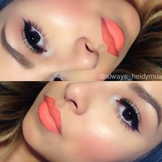 Love the peach lipstick