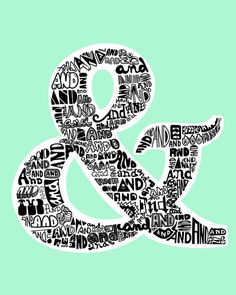A showcase of magnificent and inspirational ampersand (& / and) typography illustrations, serving as superb illustration for designers, illustrators and typographers. Lettering Design, Hand Lettering, Ampersand Tattoo, Alphabet, Typography Art, Letters And Numbers, Printable Wall Art, Creative Art, Poster