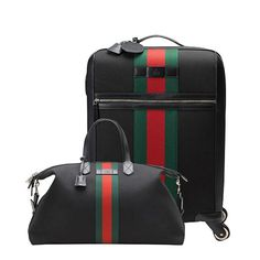 The 10 best luxury luggage sets to invest in - Elle Canada. The statement stripes on this compact Gucci suitcase and duffle bag will make them a snap to find in the plane's overhead bin.  Gucci techno fabric wheeled suitcase ($3,080) and carry-on duffle bag ($1,410