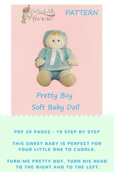 Cloth Doll Pdf Patterns Soft Sculpture Baby Doll Poseable
