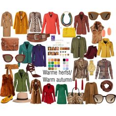 Warme herfst/ Warm autumn color type. by roorda on Polyvore featuring moda…