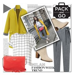 """""""Pack and Go! :)"""" by cherry-bh ❤ liked on Polyvore featuring UGG Australia, Glamorous, Kate Spade, women's clothing, women, female, woman, misses, juniors and StreetStyle"""