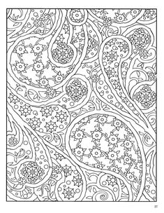 Paisley Designs Coloring Book Pages