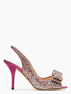charm heels, multi glitter, sling-back - Kate Spade  GORGEOUS!