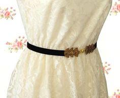 bridesmaid sash  waist Belt  Elastic Black and by AyeletShachar, $26.00