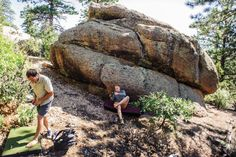 You're almost up there: #Bouldering in Tres Piedras. Photo by Katharine Egli, The Taos News.