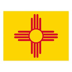 New Mexico Flag, New Mexico Homes, State Mottos, Filipino Tattoos, Embroidered Baseball Caps, Flag Art, Land Of Enchantment, Flag Design, Vintage Postcards