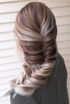 Pale to Brown Balayage Hairstyle