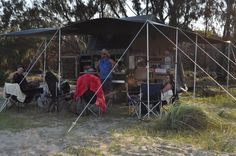 UEV 390 - Set up on the coast at a remote Aboriginal outpost in Arnhem Land called Wuyaguba, east of Ngukurr, NT