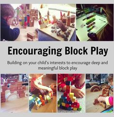 Encouraging Block Play | Building on your child's interests to encourage open ended play, design and creativity, and deep meaningful block play.