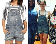 Lucy Hale on Instagram | September 9, 2016 Lucy visited Mexico a few days ago to work with Smile Train, a charity that helps children with clefts in developing countries. You can read more about the charity HERE. She wore these Blank NYC overalls on...