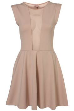 Mesh Insert Skater Dress By Dress Up really like this shape. Don't think like the mesh