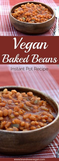 "These Vegan Baked Beans will surely be a ht at your next BBQ. That same 'old fashioned, simmered all day long"" baked bean taste - without the stove.."