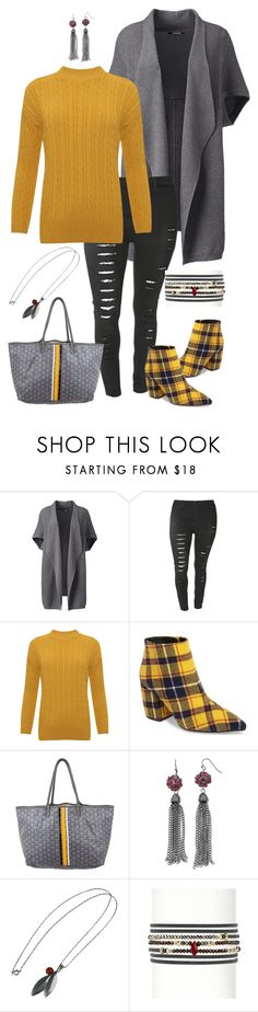 """""""Geen titel #683"""" by miriam-witte ❤ liked on Polyvore featuring Lands' End, WearAll, Jeffrey Campbell, Goyard, Jakob Bengel and plus size clothing"""