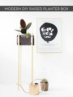 Make It: DIY Minimalist Raised Planter