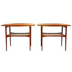 Pair of Tove & Edvard Kindt-Larsen Solid Teak Side Tables