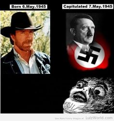 Hitler Dies Day After Chuck Norris is Born