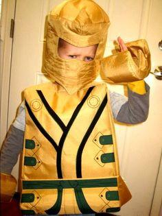 Lego gouden ninja LLoyd geïnspireerd kostuum. door TheCharacterBin