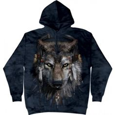 Funny Wolf Hoodie Tie Dye Adult Hooded Sweat Shirt Hoody Officially Licensed Available in Small, Medium, Large, XL & Funny Wolf, Bat Shirt, Wolf Hoodie, Printed Shirts, 3 D, Hoods, Tie Dye, Classic T Shirts, Superhero