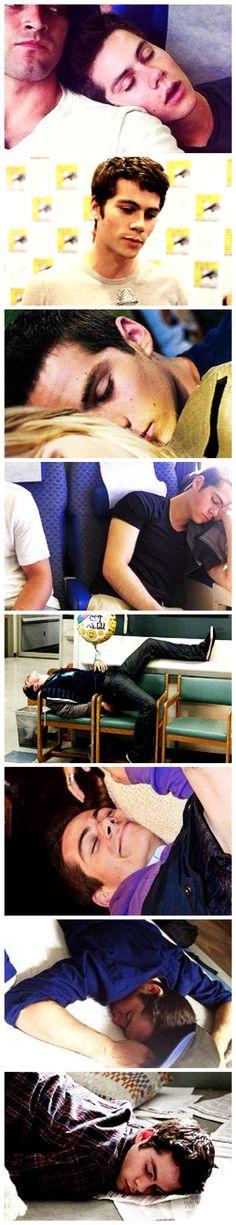 Teen Wolf Dylan O'Brian beautiful even when sleeping