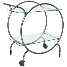 Rare Tea Cart Attributed to Staatliches Bauhaus Dessau, c. 1928   From a unique collection of antique and modern carts at https://www.1stdibs.com/furniture/more-furniture-collectibles/carts/