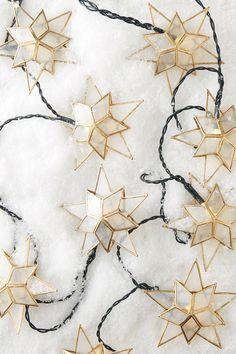 Capiz Star String Lights