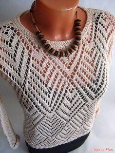 Красивый ажурный пуловер спицами. - Вязание спицами - Страна Мам