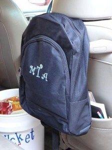 Minivan organization for kids - fun ideas for long trips