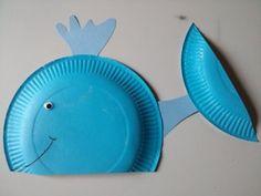 Baleine assiette en carton