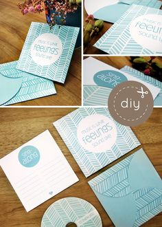 Make a CD of the songs played at your wedding as a favor. Free Printable.