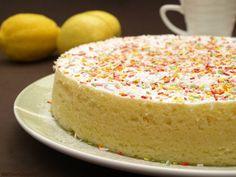 Bizcocho de limón en el microondas