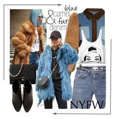 """Denim & Fur"" by alice-through-the-looking-glass ❤ liked on Polyvore featuring Sonia Rykiel, RE/DONE, Michael Kors and Alexander Wang"