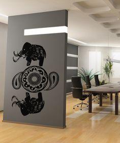 Vinyl Wall Decal Sticker Arabic Elephant Art #OS_AA336